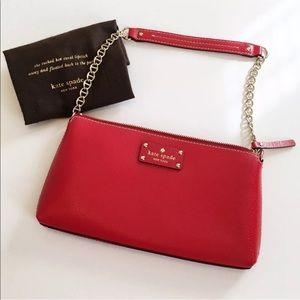 Kate Spade Wellesley Pillbox Red Clutch Purse